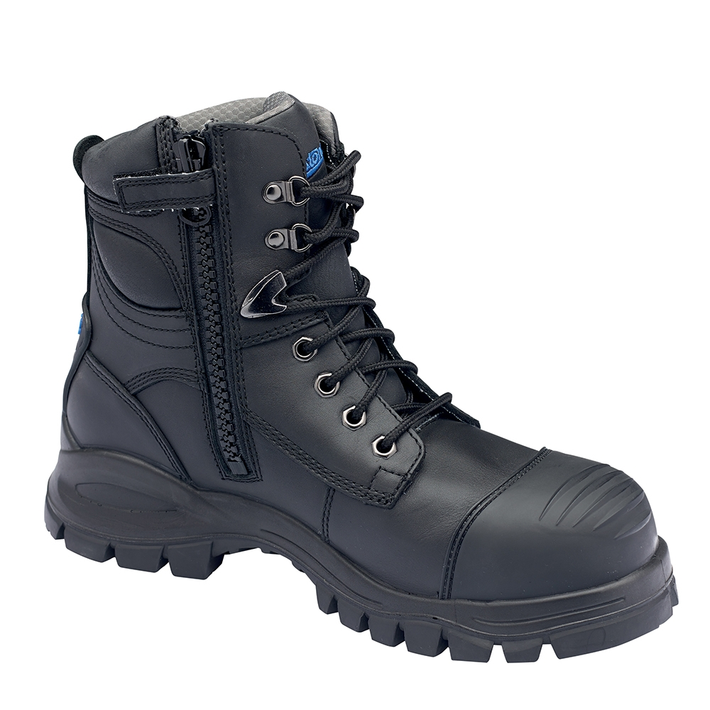 Blundstone Zip Side Safety Boot Black
