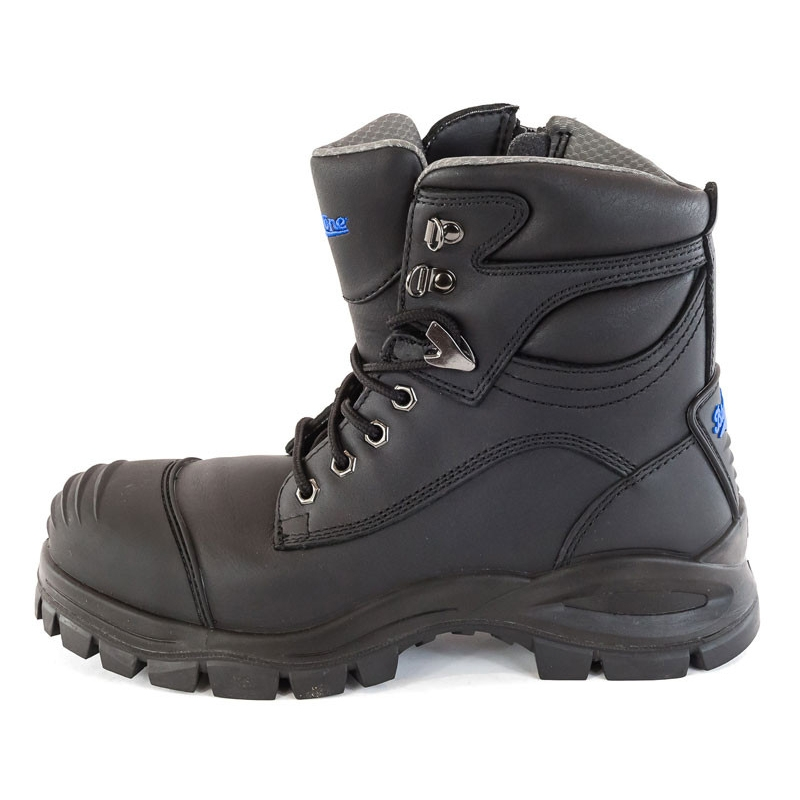 Blundstone Zip Side Safety Boot Black Left
