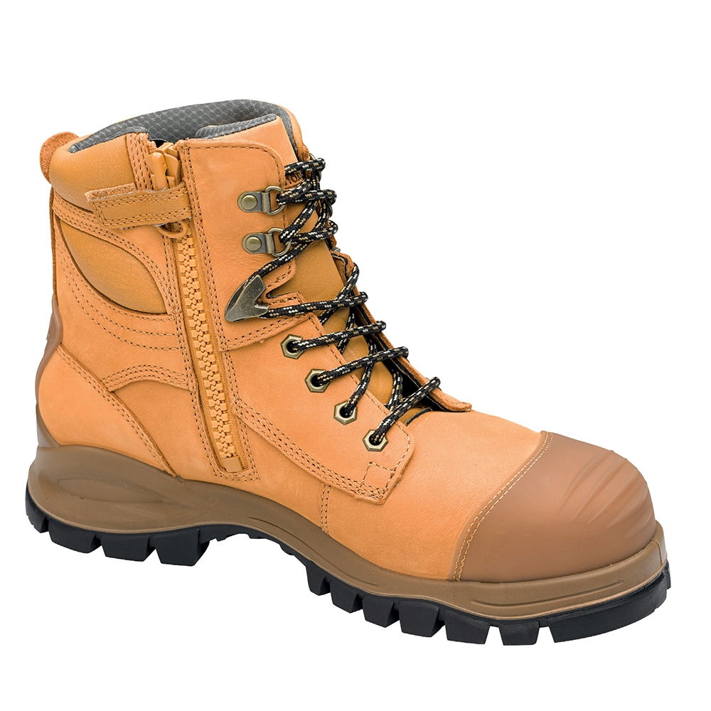 Blundstone Zip Side Safety Boot Wheat