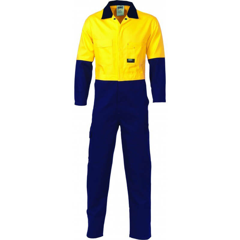 Dnc Cotton Combination Overalls Yellow Navy