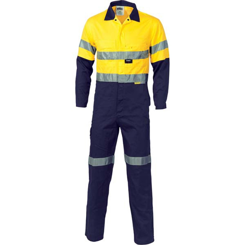 Dnc Taped Cotton Combination Overalls Yellow Navy