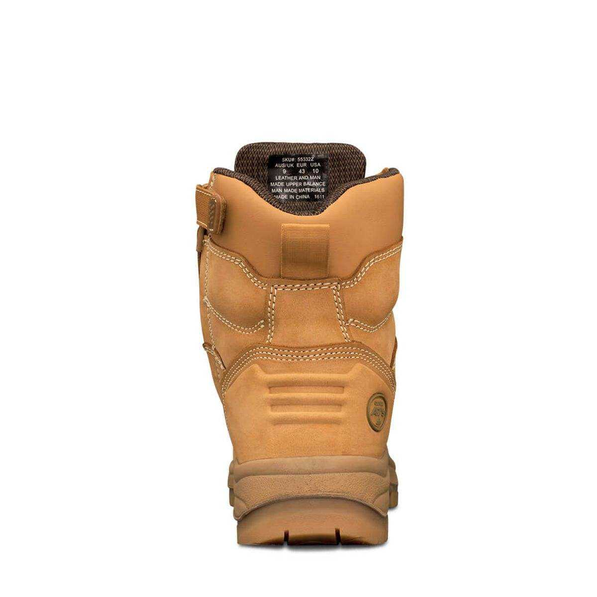 Oliver Ats 55 Series Zip Side Safety Boot Wheat Back