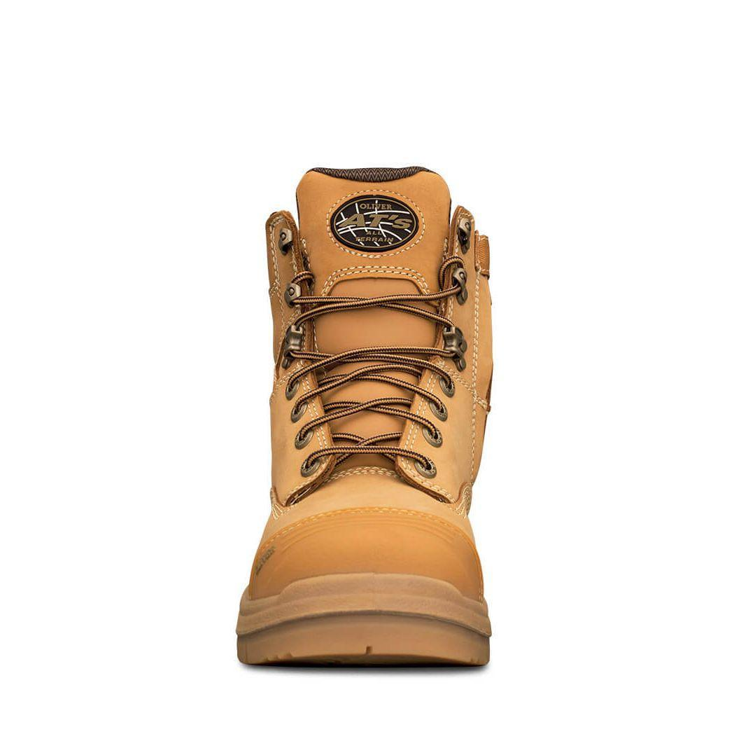 Oliver Ats 55 Series Zip Side Safety Boot Wheat Front