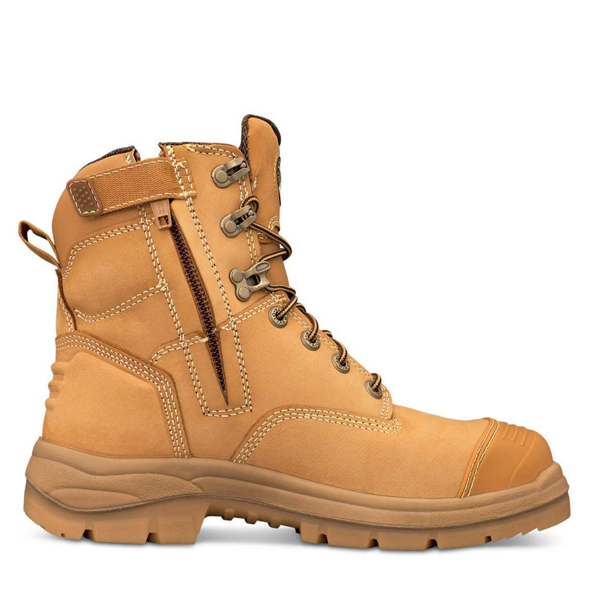Oliver Ats 55 Series Zip Side Safety Boot Wheat Side