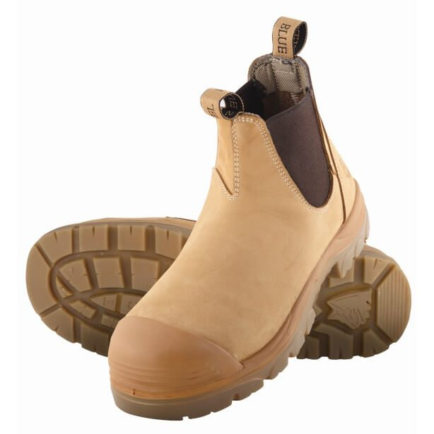 Steel Blue Hobart Elastic Side Safety Boot With Bump Cap Wheat