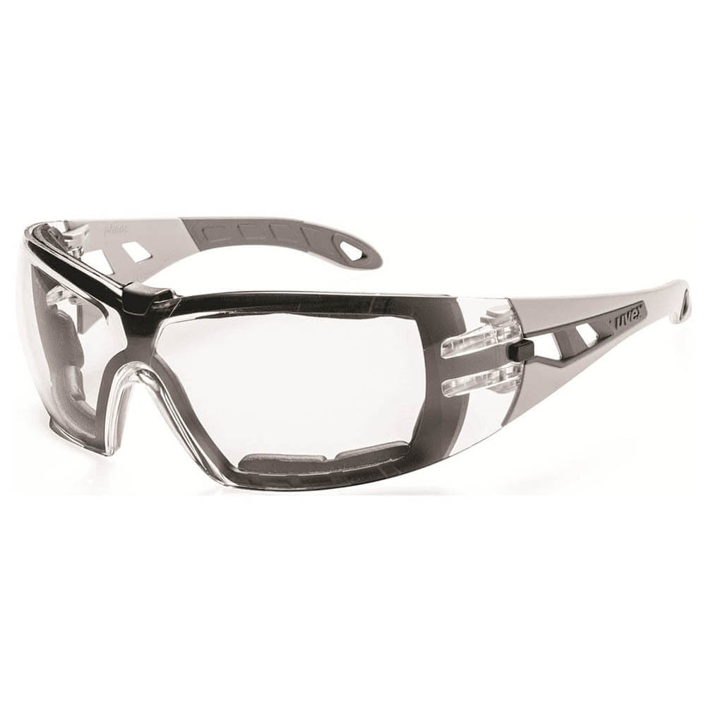 Uvex Pheos Saferty Glasses Foam Guard Clear
