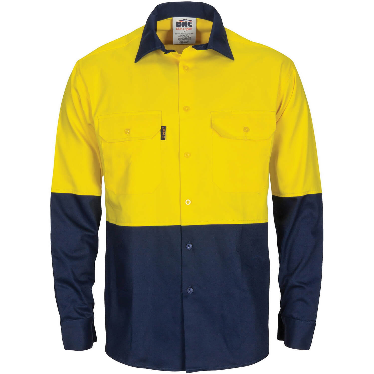 4326df9fc4ac XAX Glodril Hi Vis Long Sleeve Cotton Shirt