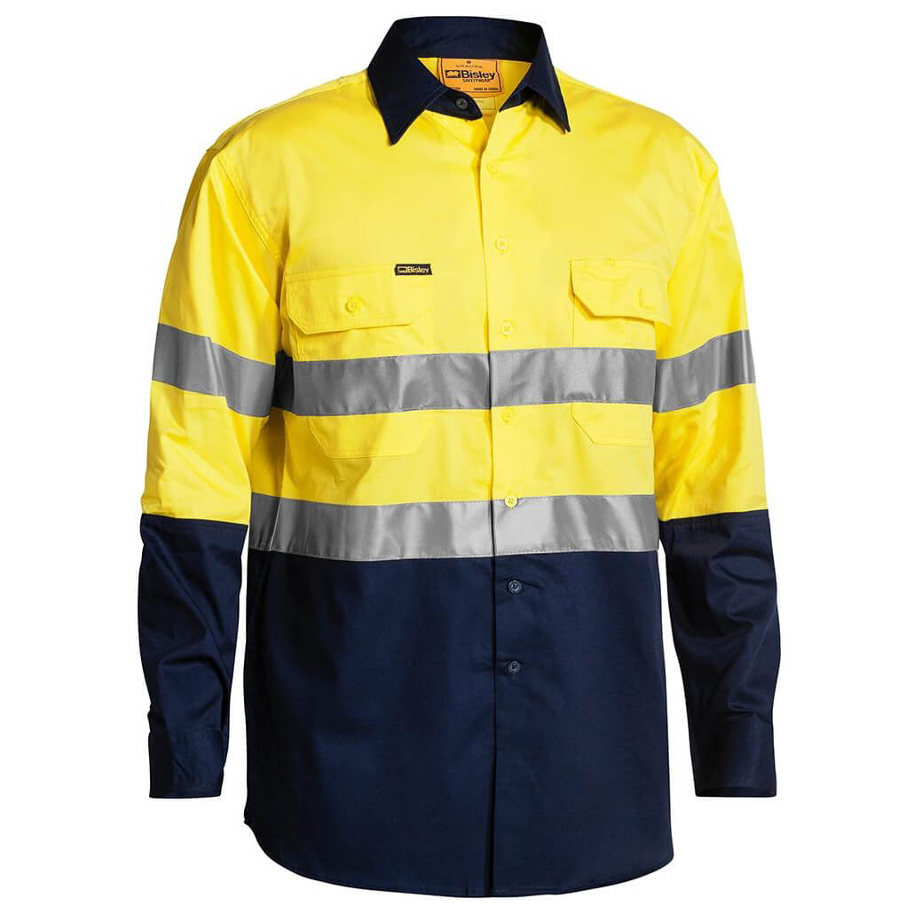 Xax Retrodril Hi Vis Long Sleeve Taped Yellow