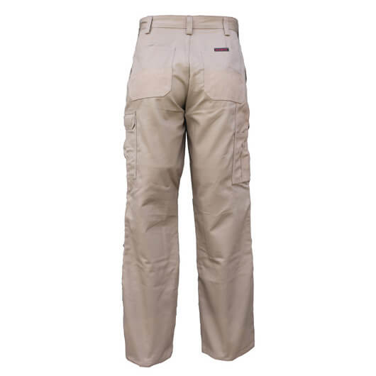 Eezneez Trousers Cushioned Knees Khaki Back