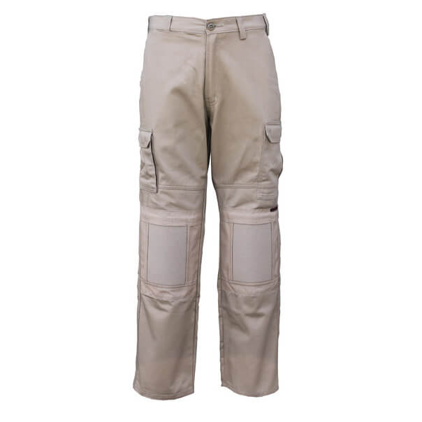 Eezneez Trousers Cushioned Knees Khaki Front